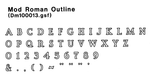 font outl