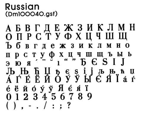 Obtaining Russian Fonts 113